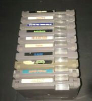 LOT OF 10 NINTENDO NES GAMES TMNT, SLALOM, BASES LOADED
