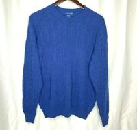 Brookmore Men's 100% Cashmere Cable Knit Pullover Sweater Size Large Long Sleeve