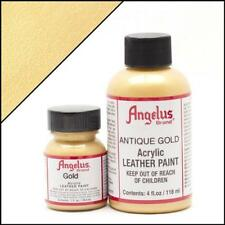 Angelus Acrylic Leather Paint Gold 4oz Colour for Shoes/Sneakers Water Resistant