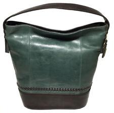 Tignanello Classic Boho Vintage Leather Bucket Bag Juniper brown a8a4f179d9977