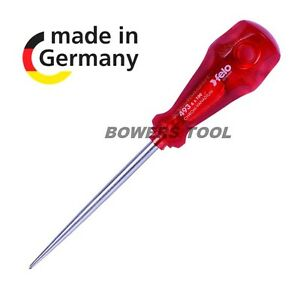 Felo 7 in. Scratch Awl Leather Punch Tool Palm Ball Handle Made in Germany