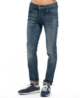Nudie Herren Slim Fit Stretch Jeans - Grim Tim Indigo Ring - W32 L34