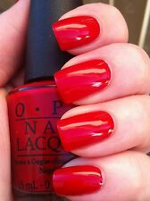 OPI NAIL POLISH Lacquer in BIG APPLE RED full size ~ a beautiful vibrant red