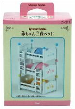 Sylvanian Families~Triple baby bed Blue Pink Yellow x 3 play set
