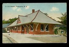 USA NB Fredricton ICR Railway Station early PPC
