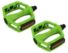 "BMX FIXIE PLATFORM PEDALS VP Alloy Pedals 9/16"" Green with reflectors new"