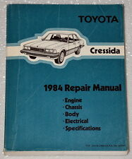 1984 Toyota Cressida Sedan Wagon Factory Dealer Shop Service Repair Manual 84