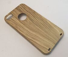 Apple Iphone 4 4S cover case protective hard back wood effect wooden oak brown