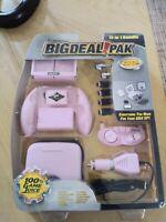 New DreamGear BIG DEAL! 15-In-1 Bundle Pak Game Boy Advance SP PINK GBA Surv Kit