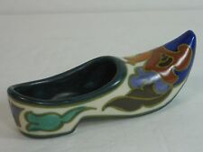 ROYAL ZUID GOUDA HOLLAND ART POTTERY HAND PAINTED SIGNED SHOE, LABEL, MINT!