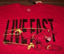 VINTAGE STYLE THE FLASH Live Fast DC COMICS T-Shirt 3XL BIG AND TALL 3XLT NEW