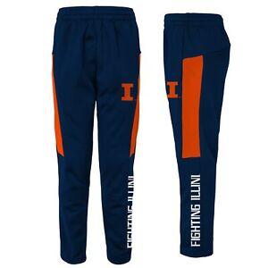 Outerstuff NCAA Youth Illinois Fighting Illini Automation Field Pants, Navy