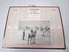 ALMANACH PTT calendrier des postes 1915 une reprise au manège chevaux cheval *