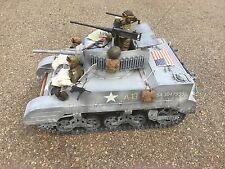 1/6 21ST CENTURY US 4TH ARMORED M5 STUART TANK + 3-CREW WW2 DRAGON BBI DID FURY