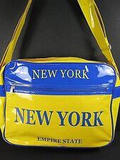 NEW YORK Sac à bandoulière Empire état sac,jaune, bleu,34 cm,NEUF,lavable