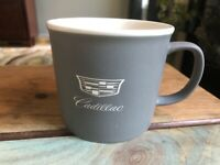 Cadillac Logo Crest Ceramic Cup Mug Official Licensed GM Product Gray 8 oz
