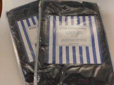 Pine Cone Hill Chambray Linen Ink Indigo Blue European Shams Set/2 NEW