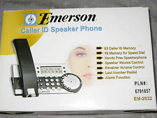 Emerson Caller Id Speaker Phone Redial Speed Dial Call Waiting Lcd Display New!
