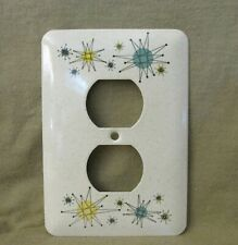 Atomic Starburst - Metal Receptacle Cover - Faux Franciscan Stoneware - Style 2