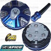 Apico Blue Alloy Fuel Cap Vent Pipe For Husqvarna FE 350 2014 Motocross Enduro