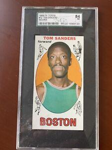 1969-70 Topps  # 72 Tom Sanders Rookie Card RC HOF SCG GRADED 84 NM