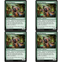 4 x RANGING RAPTORS NM mtg Ixalan Green - Dinosaur Unc