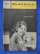 Applause - Palace Theatre Playbill - April 1970 - Lauren Becall