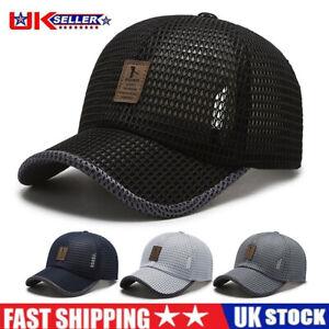 Women Mens Baseball Caps Swoosh Mesh Breathable Cap Sports Golf Adjustable Hat