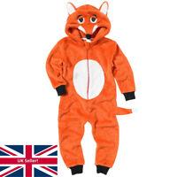 World Book Day Mr Fox 1Onesie Onezi Fleece Hooded Novelty Character Jumpsuit