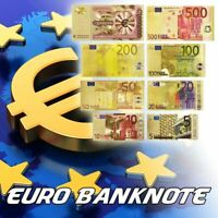 Metal Gold Plated Euro Banknotes Model 5, 10, 20, 50, 100, 200, 500 Euro Million