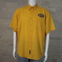 Albertsons Grocery Store USDA Choice Beef Men's XL Yellow Employee Button Shirt