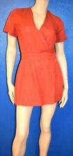 Robes rouge col en v pour femme