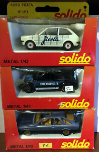 ANCIENNES SOLIDO LOT TROIS FORD 1/43/BOITES