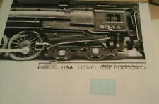 LIONEL LOCO 700E HUDSON (5344) WHITE LETTERING CLEAR WATER 2 DECAL PER SET LOOK