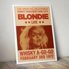 More details for blondie poster, debbie harry print, rock band concert poster