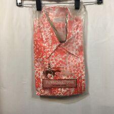 Vintage 70s Shirt Floral Print Don Quixote Hipster Long Sleeve L Nip Retro