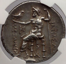 ALEXANDER III the GREAT 260BC NGC Certified Silver TETRADRACHM Greek Coin i54522