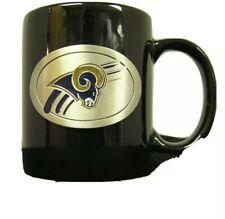 St.. Louis Rams Blue Mug with Metal Medallion NFL Football