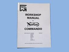 Norton 750/850cc Commando Factory Workshop Manual 1970 ONWARD Part No 065146