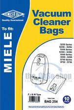 10 x MIELE Vacuum Cleaner Bags F, J & M Type S716, S717, S718, S724, S726, S728