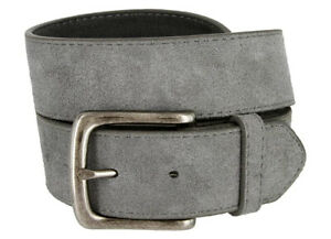 """Suede Casual Jean Belt With Silver Buckle, 1 1/2"""" Wide - Multi Colors!"""