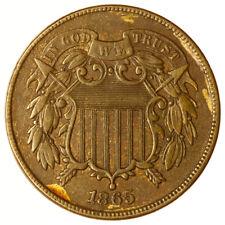 1865 Two Cent Piece ~ USA 2c Good Grade + Lustre