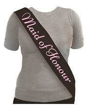 Hen Party Night Sashes - 4 Colours Available Maid of Honour Black