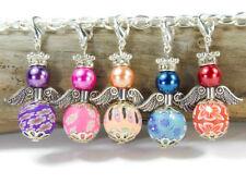 10 Wechselanhänger Engel aus Perlen basteln Blumen Clay Fimo Perlen Bastelset