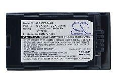 7.4V Batería Para Panasonic AG-DVC80 AG-DVX100 AG-DVX100A CGA-D54 Premium Celular