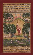 Bundi Palace Painting Handmade Indian Miniature Rajasthani Ragini Folk Decor Art