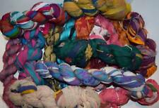 100g Surprising pack Sari Silk Ribbon craft chiffon ribbon yarn, jewelry making