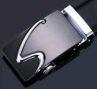 Men's Luxury Genuine Leather Alloy Automatic Belt Buckle