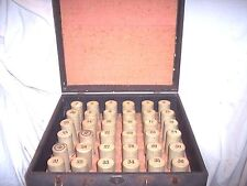 EDISON COLUMBIA CYLINDER PHONOGRAPH RECORD HOLDER CASE, HOLDS 36 RECORDS