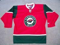 CCM Minnesota Wild Home Hockey NHL Jersey Stitched Uniform Size Adult Large
